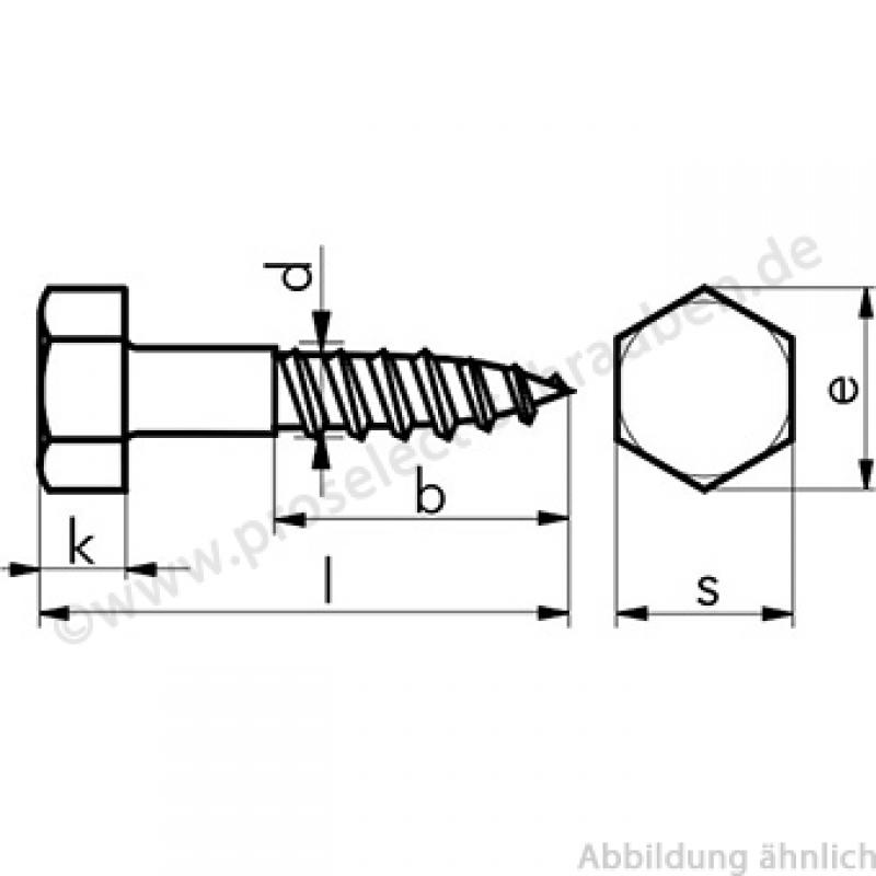 Schön Sechskant-Holzschrauben DIN 571 8X50 A4 (V4a) CB86