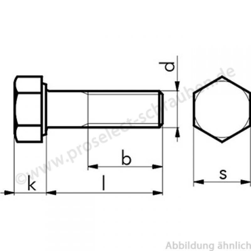 ISO 4014 Болт с шестигранной головкой