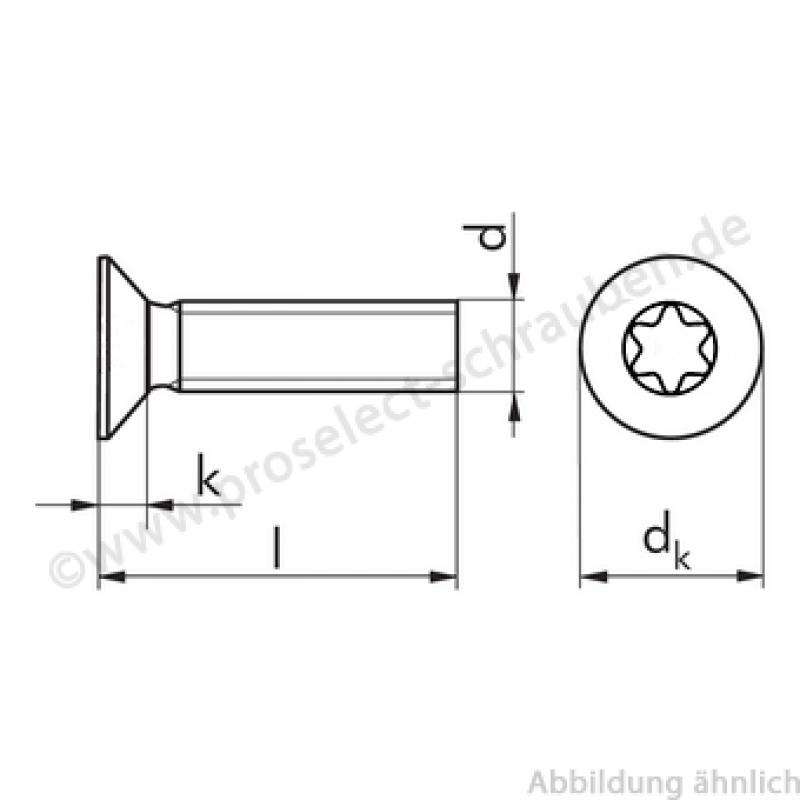 senkschrauben m innensechsrund din 965 m2 5x8 edelstahl. Black Bedroom Furniture Sets. Home Design Ideas