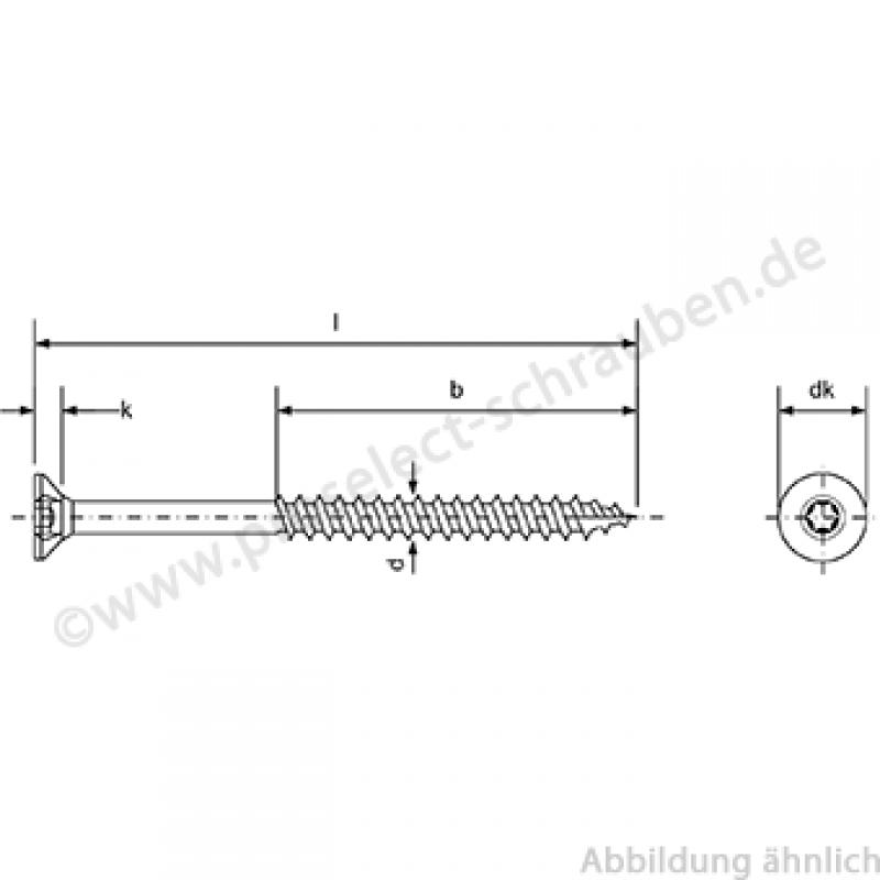 Frisch Senkkopf- Holzbauschraube, 10X100 Edelstahl A2 (V2a) FX83